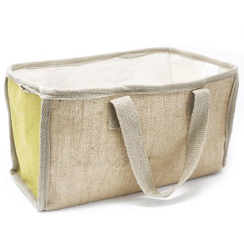 Lrg Shopping Basket - 33x18x20cm - Olive
