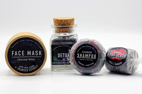 Luxury Charcoal Detox Bath Set