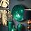 Thumbnail: Brass Embossed Teal Ceramic Large Decorative Bowl | Decorative Metal Fruit Bowl