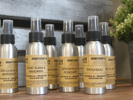 May Product Spotlight - Eco Friendly Natural Room Sprays made with Essential Oils and Witch Hazel