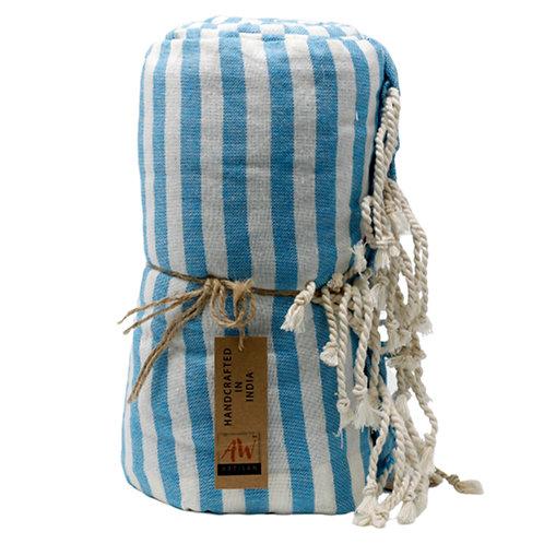 Cotton Pareo Towel - 100x180 cm - Sky Blue