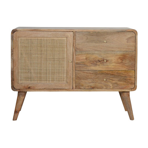 Handcrafted Rattan Cabinet with Drawers