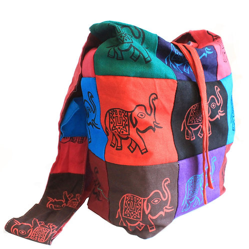 Cotton Patch Sling Bags - Elephant