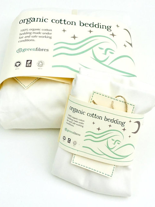 Everyday Organic Cotton Fitted Sheet Natural White (GOTS cert.)