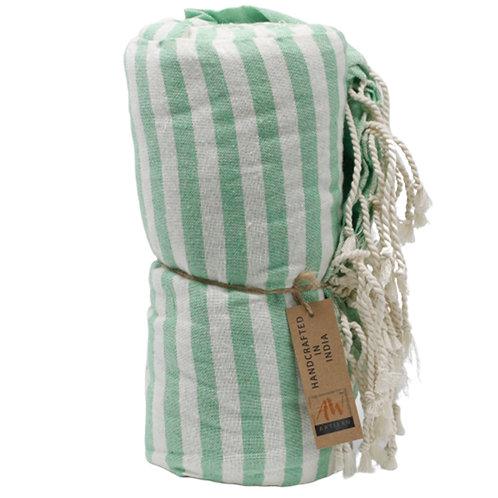 Cotton Pareo Towel - 100x180 cm - Picnic Green
