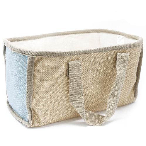 Lrg Shopping Basket - 33x18x20cm - Teal