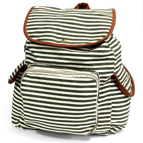Traveller Backpacks - 3 Pocket Olive Stripe
