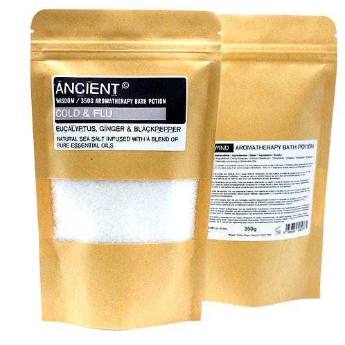 Aromatherapy Bath Potion in Kraft Bag 350g - Colds & Flu