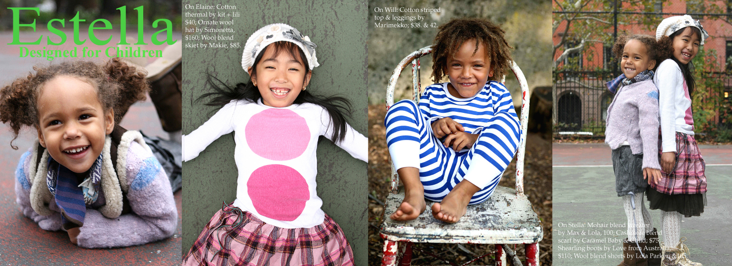 Estella kids advertising campaign