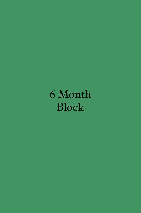 6 Month Block