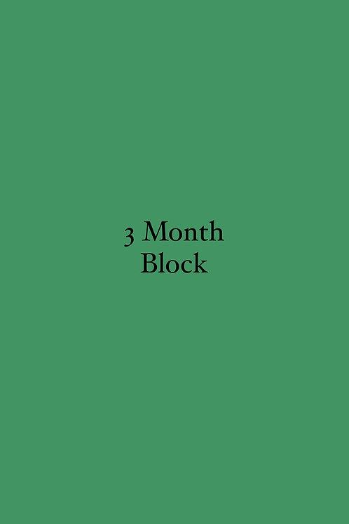 3 Month Block