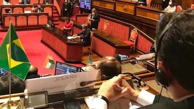 Direto de Roma. Senador Rodrigo Pacheco falará 6a. feira na Cúpula de Presidentes dos países do G20
