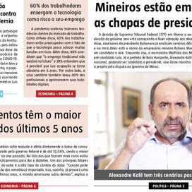 EDIÇÃO DO BRASIL. Circulando o mais influente semanário de Política & Economia de Minas.
