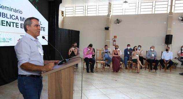 AMM em ação em Nepomuceno, sul de Minas. Seminário da Prefeitura sobre Meio Ambiente em Debate.