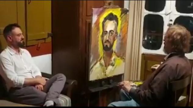 Pincel mágico de Bracher eterniza em cores a imagem do secretário Leônidas Oliveira em Ouro Preto.