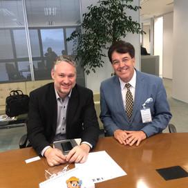 Em Palácio!!! Recebido pelo secretário de Comunicação do Estado Roberto Bastianetto
