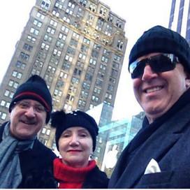 No Túnel do Tempo: em New York na 5th Avenue com Suely e Antonio Claret Guerra temperatura - 2 graus