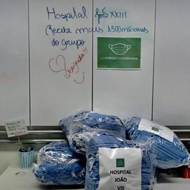 """COVID. Hospital João XXIII em BH recebe máscaras de SMS do """"Movimento 1 Milhão de Máscaras."""""""