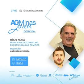 Live!!! ACMinas Jovem recebe o presidente da Comissão de Comunicação Helinho Faria. Dia 24. 12:00.
