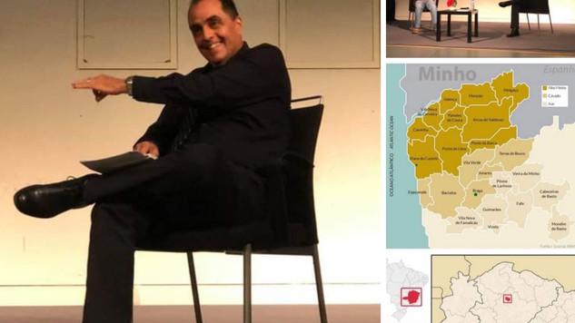Direto de Portugal. O empresário Claudio Motta, vice da Câmara Portuguesa mostra Minas ao Minho...