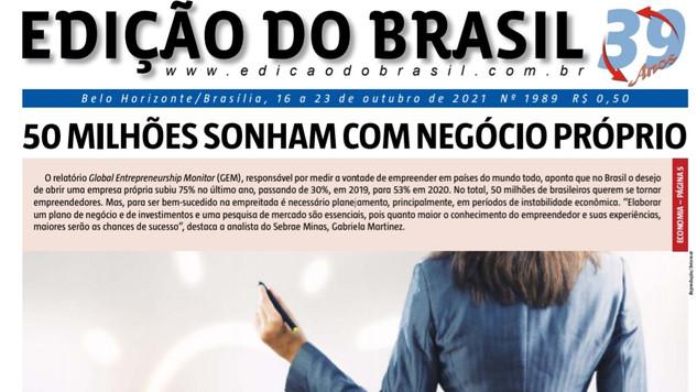Jornal Edição do Brasil. Mais uma edição do influente semanário de Política & Economia de Minas