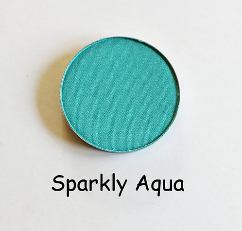 Sparkly Aqua-Shimmer Turquoise powder pan