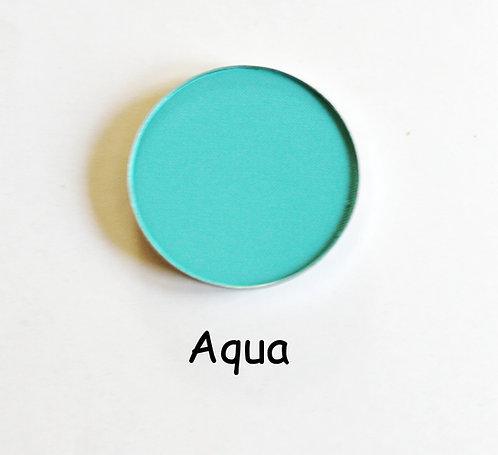 Aqua- Matte Turquoise powder pan