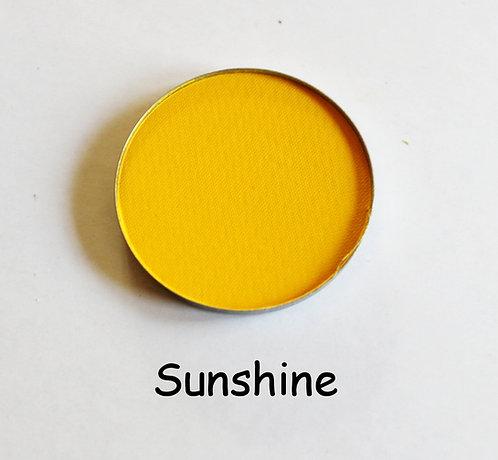 Sunshine-Matte yellow powder pan