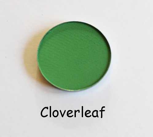 Cloverleaf-Matte Dark Green powder pan
