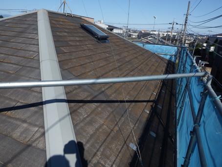 M様邸カラーベスト屋根塗装工事前