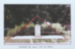 In a statue to Ho Chi Minh, in Habana, there is a red structure in the shape of a pyramid. Using the idea of pyramid as a preservative element, it has been extended as a drawn intervention on the photographs of other city monuments.  En un monumento al líd