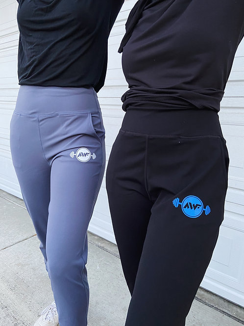 AWF Logo Stretch Athleisure Leggings