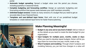 Free Infographic: Budgeting, Forecasting and Model with Diverse Data Types