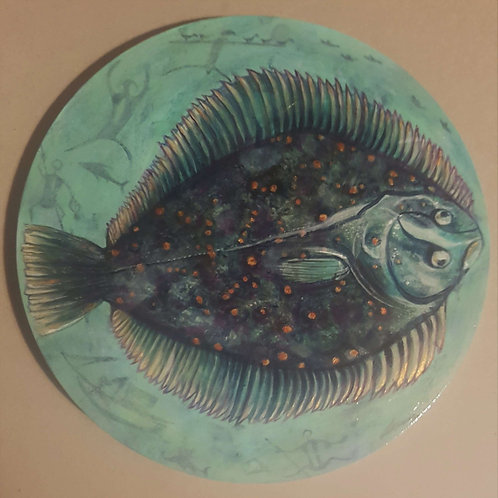 Yesterday's Flounder - Original Painting