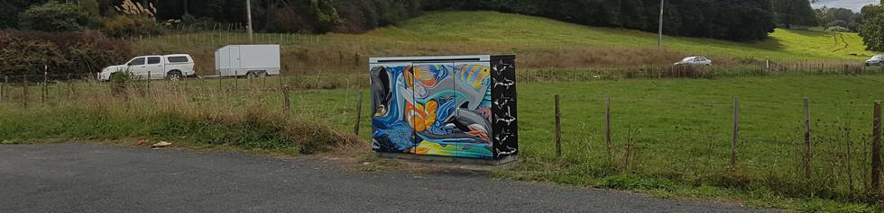 'Fishing with Escher' Mural in Waipa