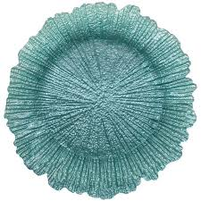 Shell Turquoise Charger Plate