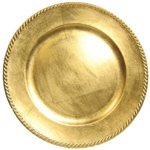 Gold Rope Charger Plate