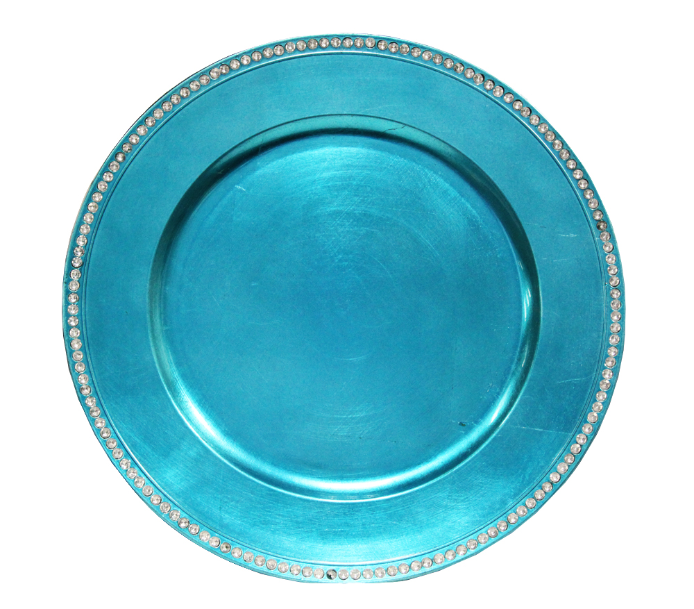 Turquoise Diamond Charger Plate