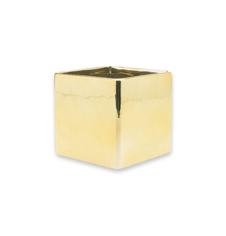 Square Vase Gold