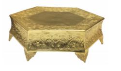 Gold Heagon Cake Stand
