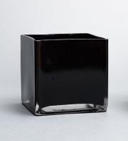 Square Black Vase