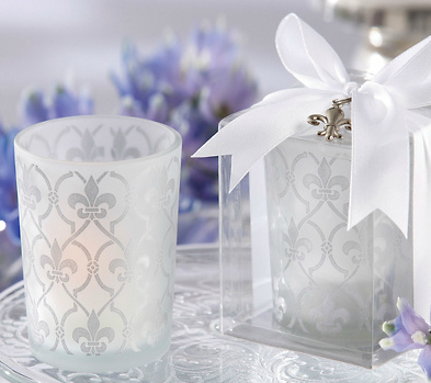 Patterned Frosted Votive Holders