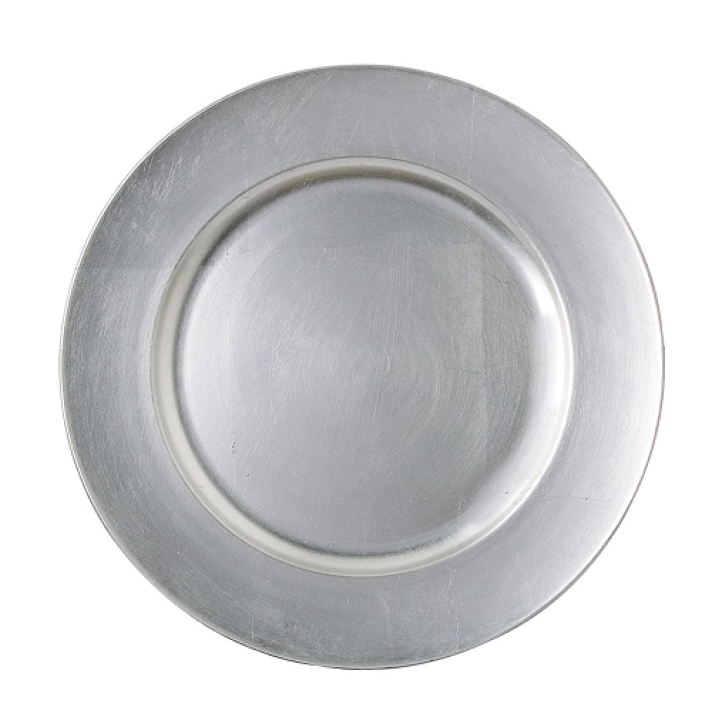 Silver Plain Charger Plate