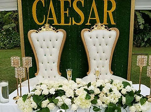 Swipe ⬅️ Head Table decor for #theroyalc