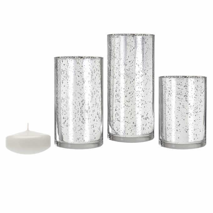 Mercury SIlver Vases