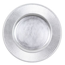 Silver Ripple Charger Plate
