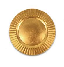 Gold Ripple Charger Plate