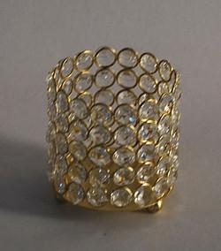 Gold Crystal Votive Holders
