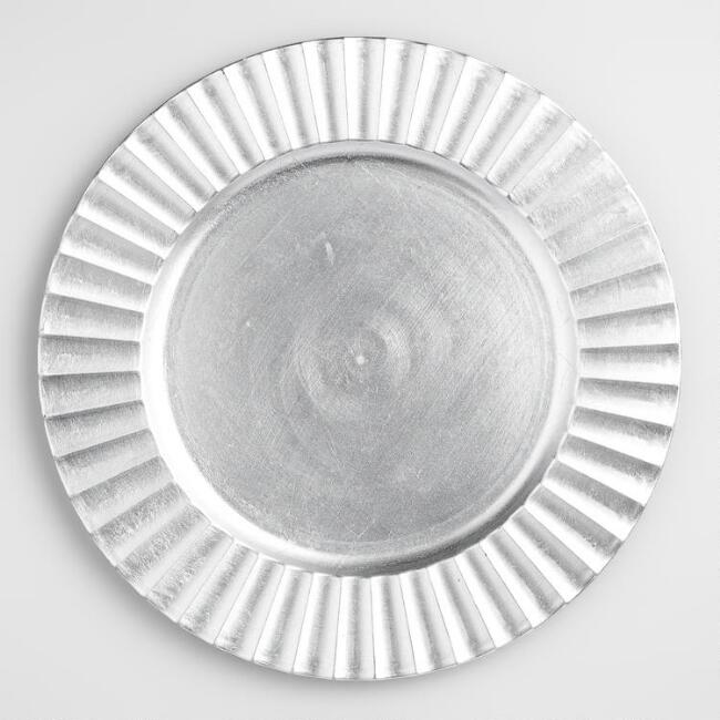 Silver Ripple #2 Charger Plate