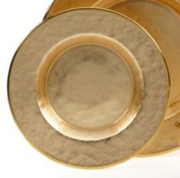 Gold Ceramic Plain Charger Plate